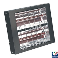 Sealey Infrared Quartz Heater Wall Mounted - 3000W 230V