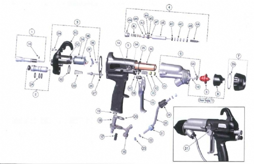 Needle Shaft Assembly for RansFlex RXQ and RFXQ Spray Guns