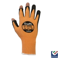 TraffiGlove TG3220 3 Digit Metric 3 Amber Safety Glove