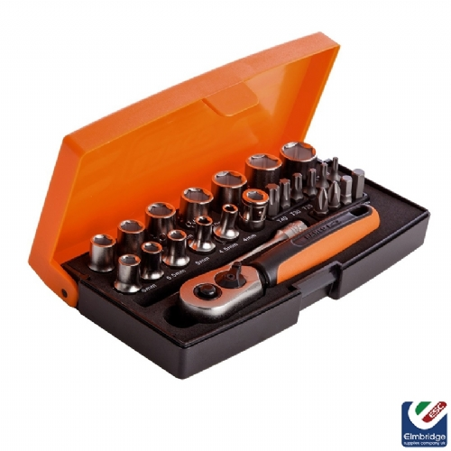 Bahco SL25 1/4'' Drive Socket Set