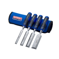 Faithfull Chisel Set with Storage Roll, 4 Piece