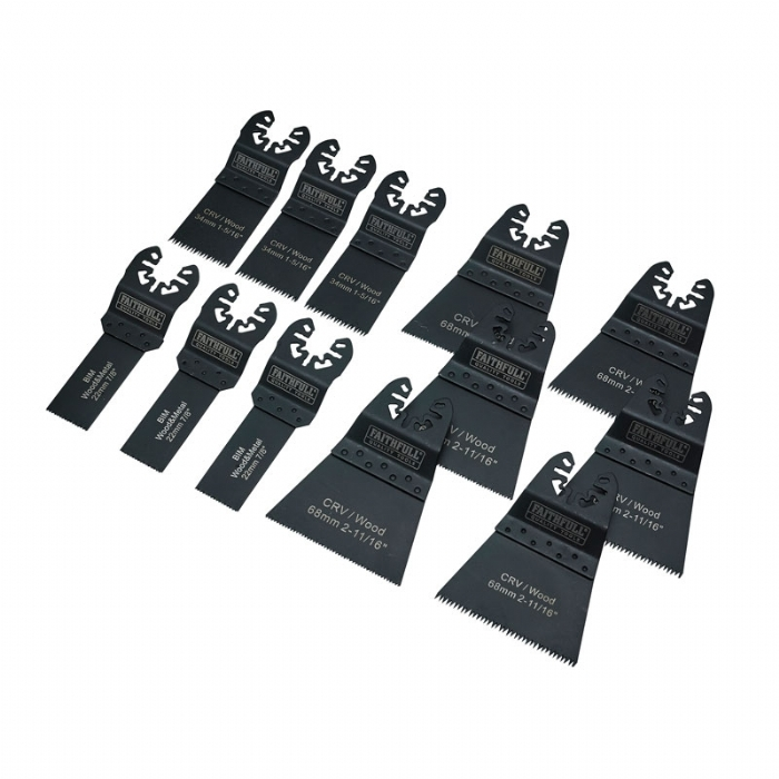 Faithfull Multi-Tool Blade Set, 12 Piece