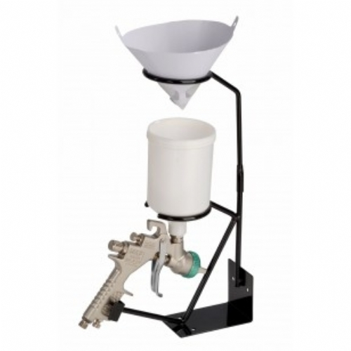 Bench Mounted Spray Gun Holder With Filter Cradle