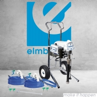 Graco SaniSpray HP 130 2-Gun Cart Airless Sprayer Twin Gun Kit