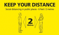 Keep Your Distance - Floor Stickers