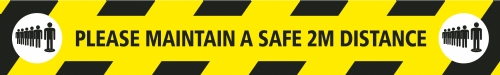 Maintain a Safe 2M Distance - Floor Stickers