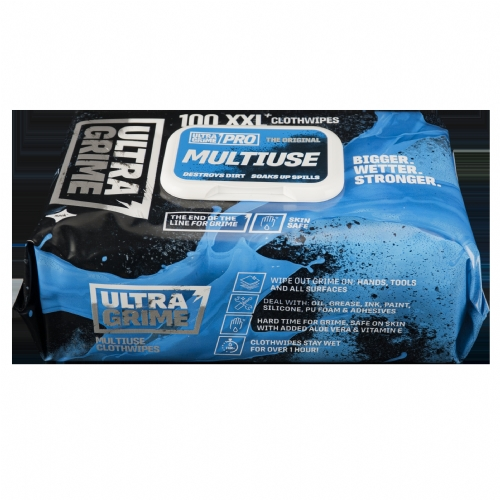 Ultra Grime Wipes - Buy 5 get 1 Free!  100 Wipes Multiuse