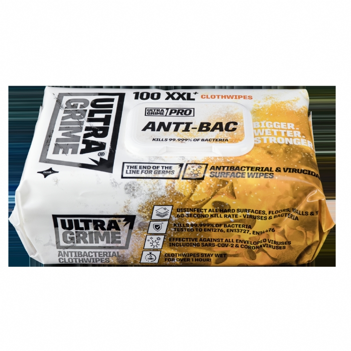 Ultra Grime Wipes - Buy 5 get 1 Free!  100 Wipes Anti-Bac
