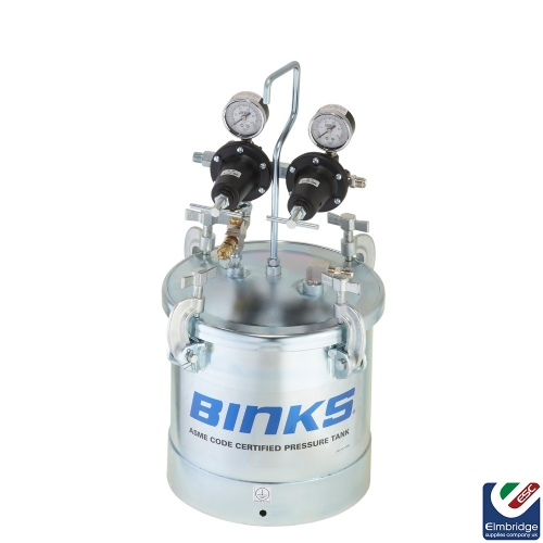Binks 83C-210 10L Pressure Pot & Replacement Fittings