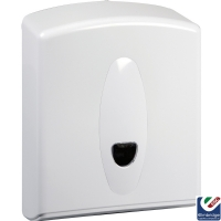 White Plastic C-Fold Hand Towel Dispenser