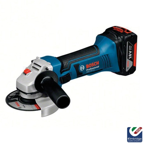 Bosch GWS 18 V-Li 115mm Cordless Angle Grinder with 2 x 4Ah Li-ion CoolPack Batteries