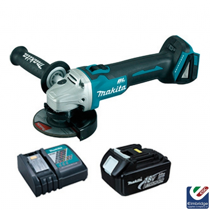 elmbridge makita dga454 115mm 18v lxt cordless brushless angle grinder with 2 x 4ah li ion. Black Bedroom Furniture Sets. Home Design Ideas