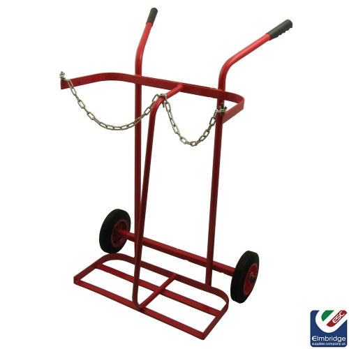 Double Oxy & Acetylene Large Cylinder Trolley