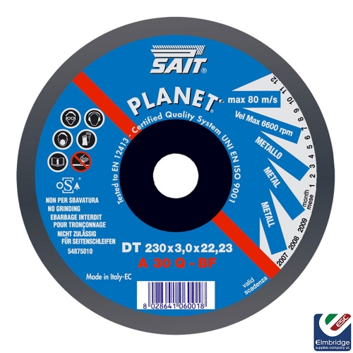 Metal Cutting Discs - Sait
