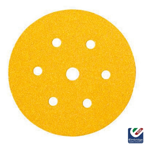 Mirka Gold Sanding Discs, 150mm, 6 Holes PSA Backing