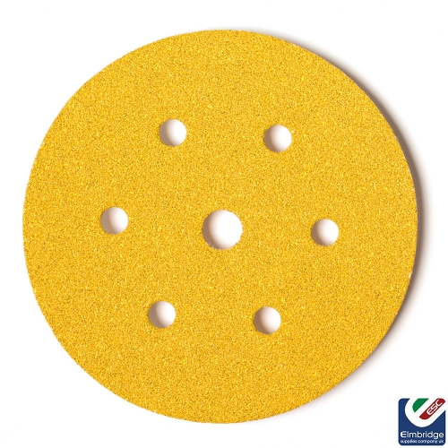 Mirka Gold 150mm 6+1 Holes Velcro Grip Sanding Discs