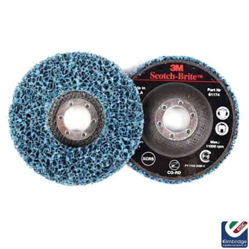 3M Scotch-Brite™ General Purpose CG-ZS Blue Spindle Mounted Clean and Strip Discs