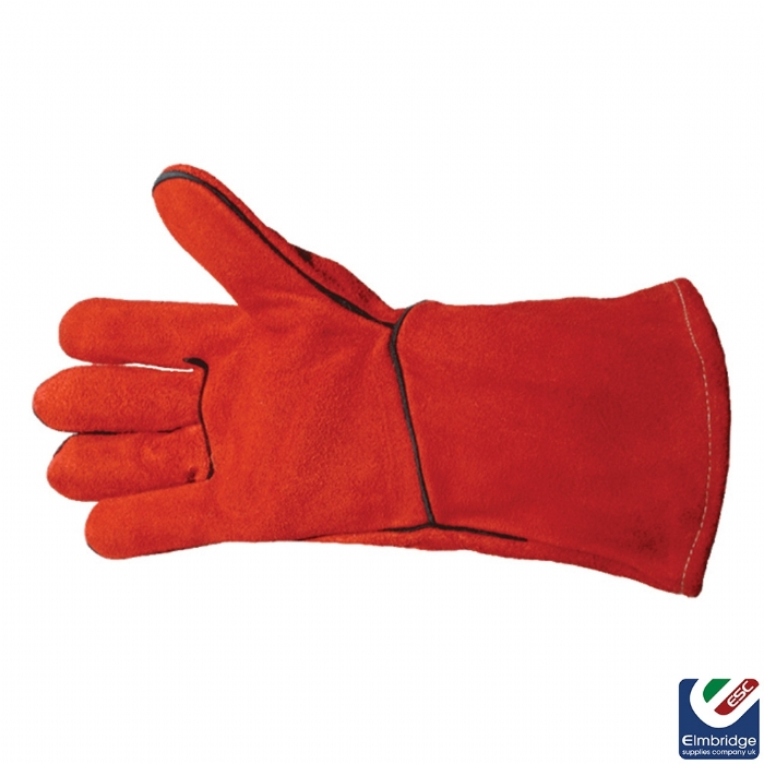 Reversible Red Welding Gauntlets