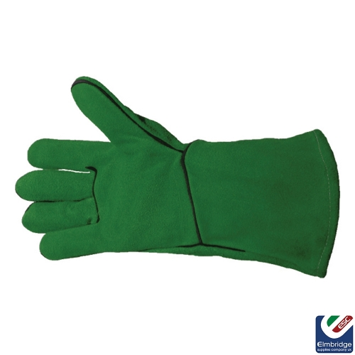 Green Welding Gauntlets