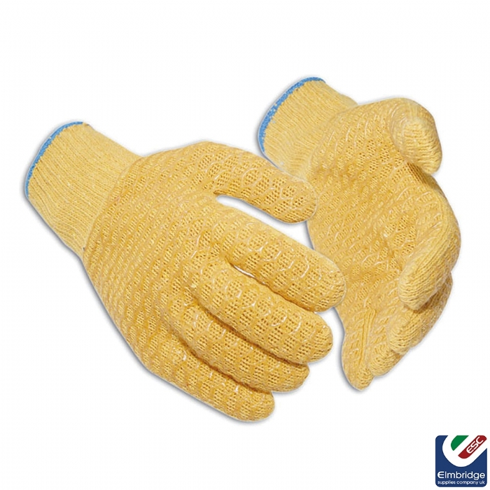 Yellow Criss Cross Rigger Gloves