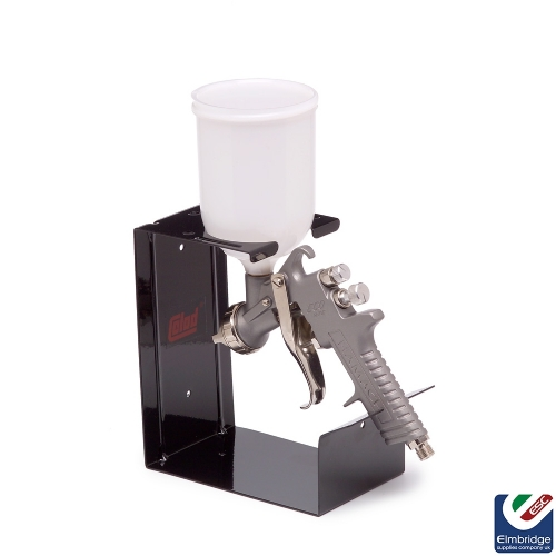 Metalic Single Spray Gun Holder - Wall or Bench Mounted