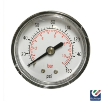 Rear Entry Air Pressure Gauge