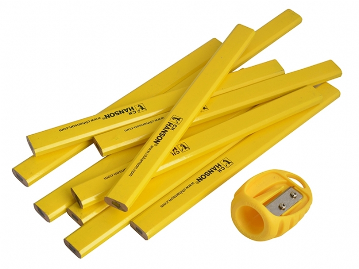 Carpenters Pencils and Sharpener Pack