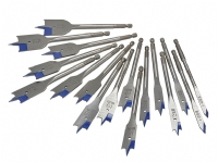 Irwin 17 piece 4X Blue Groove Flat Bit Set with Wallet
