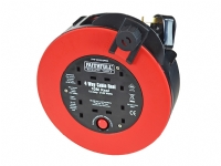 Faithfull 10m Anti-Tangle Rapid Rewind Cable Reel 13 Amp