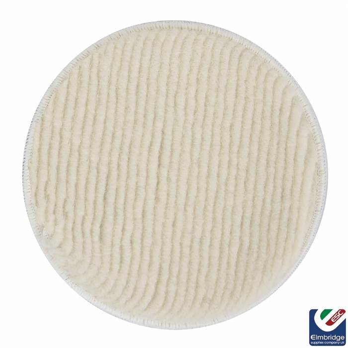 Mirka Polarshine Polishing Wool Pads, Velcro Grip  180mm Pukka Pad