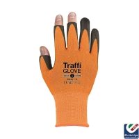 TraffiGlove TG3020 3 Digit 3 Amber Safety Glove