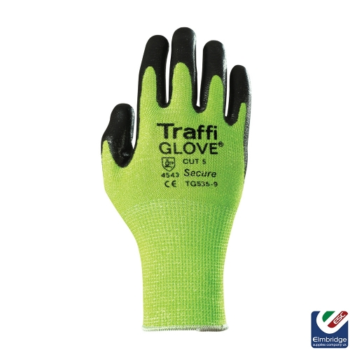 TraffiGlove TG535 Secure Cut 5 Green Safety Glove