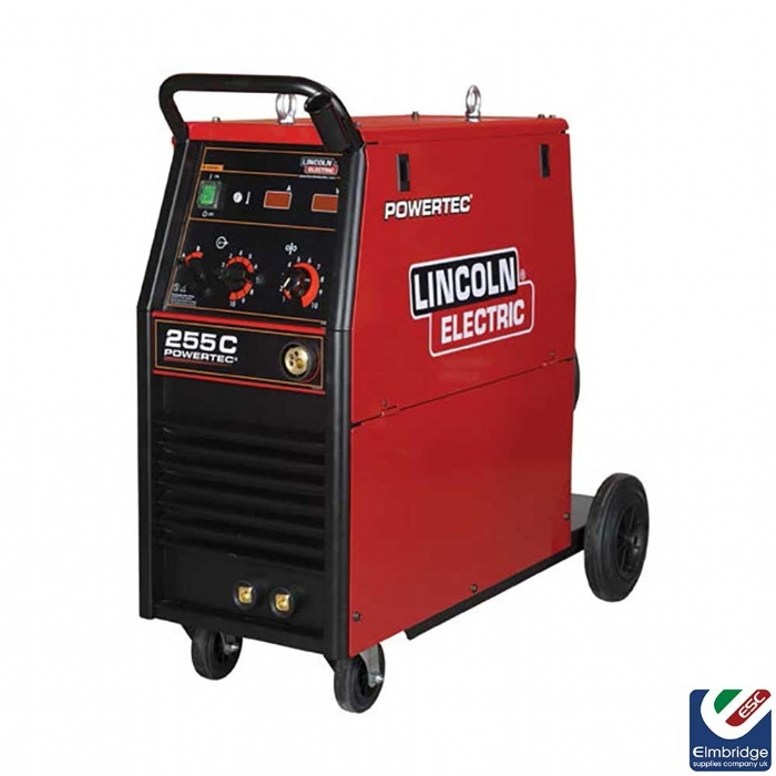Lincoln Powertec® Three Phase Mig Compact Welders   255C Ready to weld package