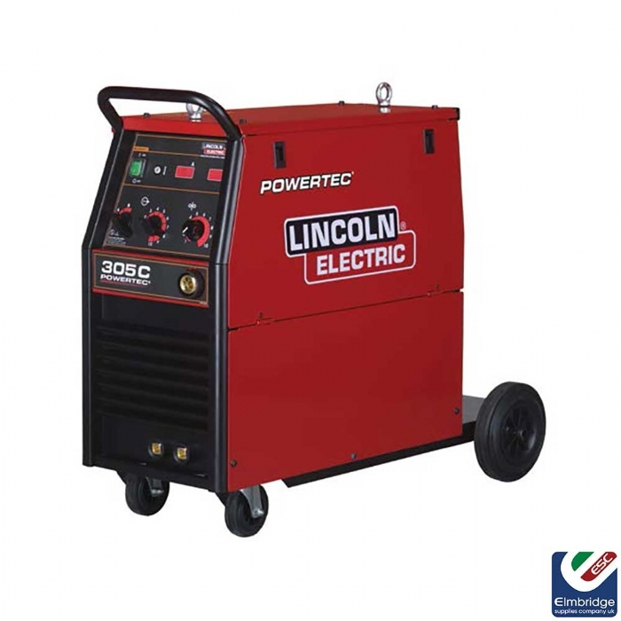 Lincoln Powertec® Three Phase Mig Compact Welders   305C Ready to weld package